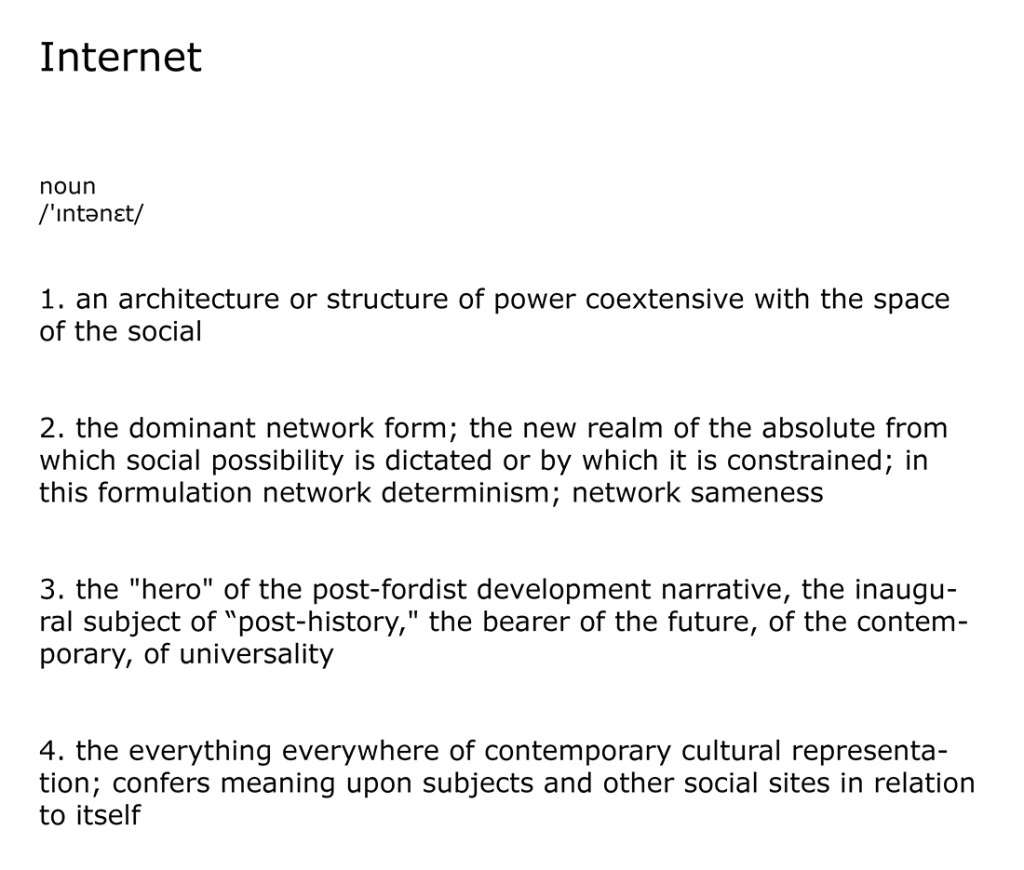 Totality Study #1: Internet, a definition