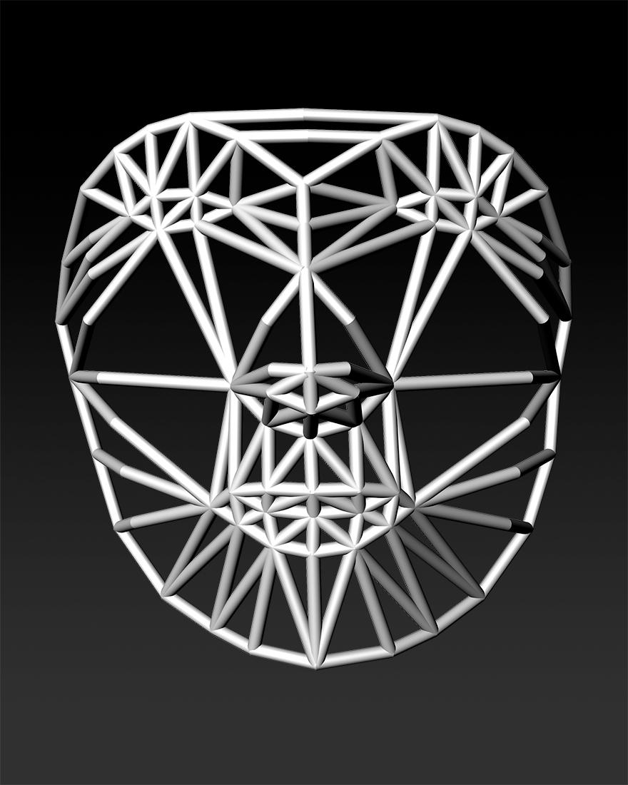 Face Cage 2, 3D render