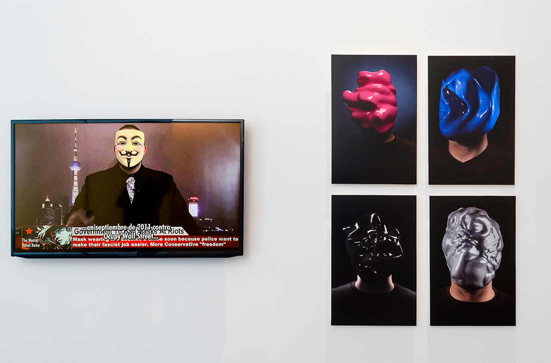 Zach Blas, Facial Weaponization Suite, MUAC