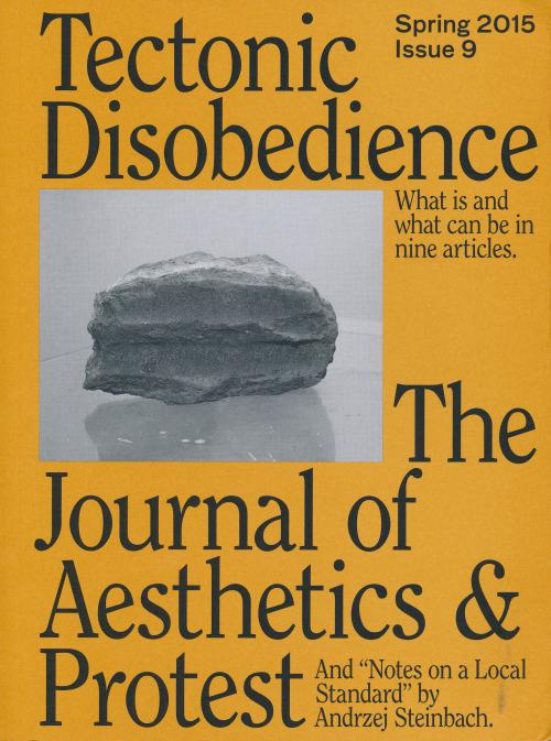 Journal of Aesthetics and Protest, Issue 9