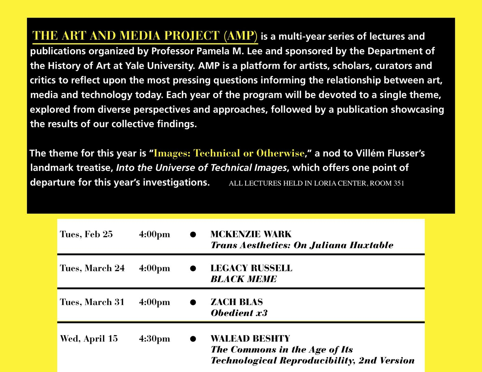 The Art and Media Project, Yale University
